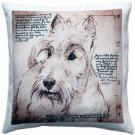 Pillow Decor - Scottish Terrier Dog Pillow 17x17  - SKU: LE1-0032-01-17