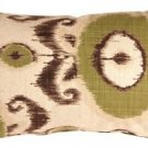 Pillow Decor - Bold Green Ikat 12x20 Throw Pillow  - SKU: VB1-0001-03-92