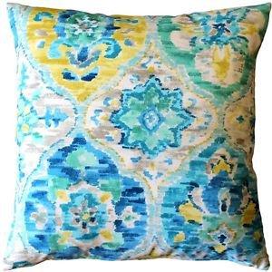 Pillow Decor - Ali Baba Blue Outdoor Throw Pillow 20x20  - SKU: WB1-0014-01-20