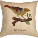 Pillow Decor - Bird on Branch 20x20 Throw Pillow  - SKU: VB1-0002-01-20