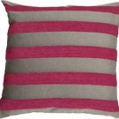 Pillow Decor - Brackendale Stripes Pink Throw Pillow  - SKU: SD1-0002-03-22