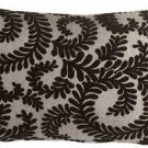 Pillow Decor - Brackendale Ferns Black Rectangular Throw Pillow