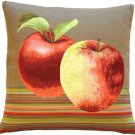 Pillow Decor - Fresh Apples on Brown 19x19 Throw Pillow - SKU: AB1-5298-02-20