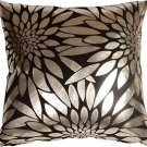 Pillow Decor - Metallic Floral Black Square Throw Pillow  - SKU: HC1-0003-11-20