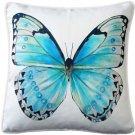 Pillow Decor - Costa Rica Robin's Egg Butterfly Throw Pillow 20x20