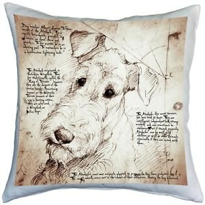 Pillow Decor - Airedale Terrier 17x17 Dog Pillow  - SKU: LE1-0006-01-17