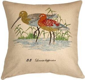 Pillow Decor - Wading Birds 20x20 Throw Pillow  - SKU: VB1-0003-01-20