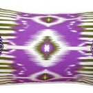 Pillow Decor - Electric Ikat Purple 15x27 Throw Pillow  - SKU: VC1-0009-03-97