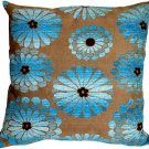 Pillow Decor - Shasta Blue Floral Throw Pillow  - SKU: HC1-0006-01-22