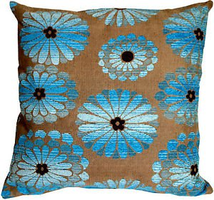 Pillow Decor - Shasta Blue Floral Throw Pillow  - SKU: HC1-0006-01-22