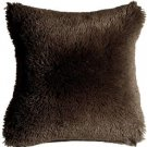 Pillow Decor - Soft Plush Brown 20x20 Throw Pillow  - SKU: MD1-0063-02-20
