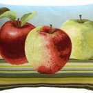 Pillow Decor - Fresh Apples on Blue Rectangular Pillow - SKU: AB1-5299-02-94