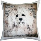 Pillow Decor - Havanese 17x17 Dog Pillow  - SKU: LE1-0003-01-17