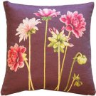 Pillow Decor - Pink Dahlias Square Tapestry Throw Pillow - SKU: AB1-5307-01-20