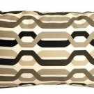 Pillow Decor - Waverly New Twist Caviar 12x20 Outdoor Pillow