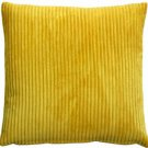 Pillow Decor - Wide Wale Corduroy Yellow 18x18 Throw Pillow