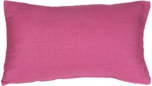 Pillow Decor - Tuscany Linen Orchid Pink 12x20 Throw Pillow