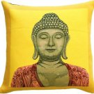 Pillow Decor - Buddha in Yellow French Tapestry Throw Pillow (SKU AB1-5350-03-20