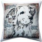 Pillow Decor - Dalmatian 17x17 Dog Pillow  - SKU: LE1-0020-01-17