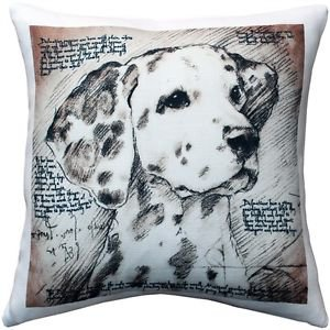 Pillow Decor - Dalmatian 17x17 Dog Pillow  - SKU: LE1-0020-01-17