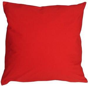 Pillow Decor - Caravan Cotton Red 18x18 Throw Pillow  - SKU: SE1-0001-01-18