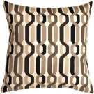 Pillow Decor - Waverly New Twist Caviar 20x20 Outdoor Pillow