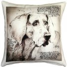 Pillow Decor - Weimaraner 17x17 Dog Pillow  - SKU: LE1-0015-01-17