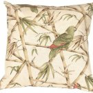 Pillow Decor - Bamboo Parrots 22x22 Throw Pillow  - SKU: VB1-0024-01-22