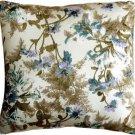Pillow Decor - Brookside Garden Blue 17x17 Throw Pillow  - SKU: PC1-0026-04-17