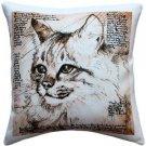 Pillow Decor - Maine Coon 17x17 Cat Pillow  - SKU: LE1-0024-01-17
