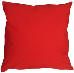 Pillow Decor - Caravan Cotton Red 23x23 Throw Pillow  - SKU: SE1-0001-01-23