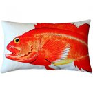 Pillow Decor - Rockfish Fish Pillow 12x20  - SKU: PD2-0004-01-92