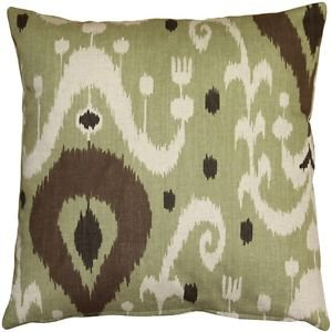 Pillow Decor - Indah Ikat Green 20x20 Throw Pillow  - SKU: VB1-0029-01-20