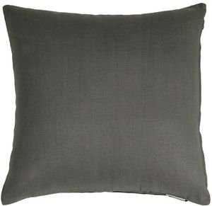 Pillow Decor - Tuscany Linen Elephant Gray 20x20 Throw Pillow