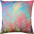 Pillow Decor - Peacock Feathers Pastel Throw Pillow 20x20  - SKU: SK1-0003-01-20