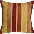 Pillow Decor - Savannah Stripes 20x20 Yellow Orange Chenille Throw Pillow