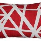 Pillow Decor - Bird's Nest Red Throw Pillow 12X20  - SKU: PD2-0050-03-92