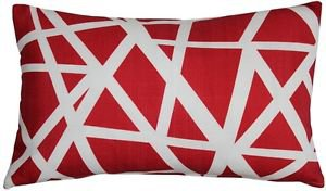Pillow Decor - Bird's Nest Red Throw Pillow 12X20  - SKU: PD2-0050-03-92