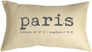 Pillow Decor - Paris Coordinates 12x20 Throw Pillow  - SKU: NB1-0008-02-92