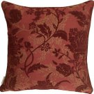 Pillow Decor - Traditional Floral in Wine 18x18 Decorative Pillow