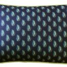 Pillow Decor - Shoal Cape Abalone Tiny Scale Print Throw Pillow 12x20