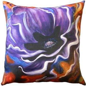 Pillow Decor - Purple Poppy 20x20 Throw Pillow - SKU: SH1-0005-01-20