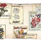 Pillow Decor - Vintage Seed Packet 16x24 Throw Pillow  - SKU: VB1-0021-01-69