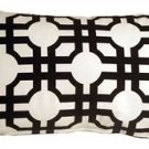 Pillow Decor - Waverly Groovy Grille Licorice 12x20 Throw Pillow