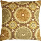 Pillow Decor - Bohemian Medallion Mulberry 20x20 Throw Pillow