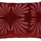 Pillow Decor - Velvet Daisy Red 12x20 Throw Pillow  - SKU: DC1-0005-02-92