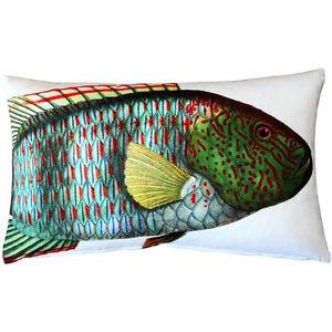 Pillow Decor - Maori Wrasse Fish Pillow 12x20  - SKU: PD2-0008-01-92