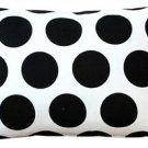 Pillow Decor - Dots and Stripes Throw Pillow 12x18  - SKU: PD2-0200-01-92