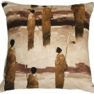 Pillow Decor - Masai Warrior 22x22 Brown Throw Pillow  - SKU: VB1-0013-01-22
