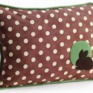 Pillow Decor - Bunny Polka Dot Decorative Throw Pillow  - SKU: GC1-0004-01-62